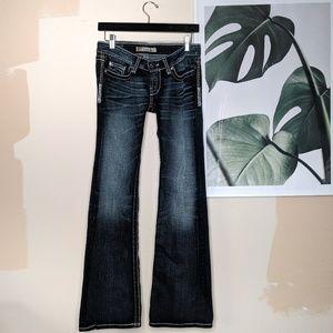 BKE Stella Stretch Dark Wash Flare Jeans